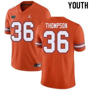 Jordan Brand Youth #36 Trey Thompson Florida Gators College Football Jerseys Orange 809722-580
