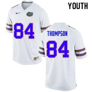 Youth #84 Trey Thompson Florida Gators College Football Jerseys White 208545-450