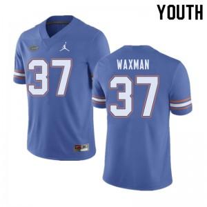 Jordan Brand Youth #37 Tyler Waxman Florida Gators College Football Jerseys Blue 197686-239