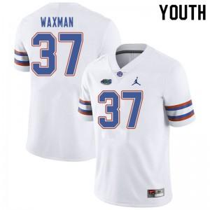 Jordan Brand Youth #37 Tyler Waxman Florida Gators College Football Jerseys White 896269-431