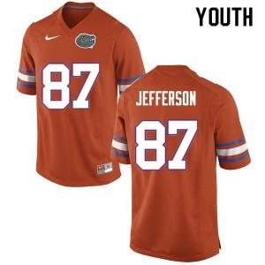 Youth #87 Van Jefferson Florida Gators College Football Jerseys Orange 812352-628