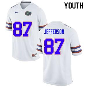 Youth #87 Van Jefferson Florida Gators College Football Jerseys White 277558-653
