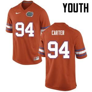 Youth Florida Gators #94 Zachary Carter College Football Orange 755398-457