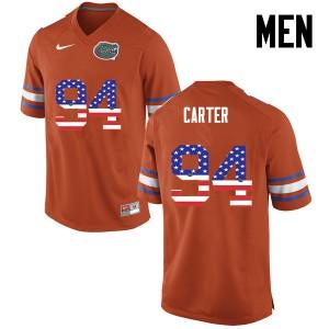 Men Florida Gators #94 Zachary Carter College Football USA Flag Fashion Orange 349081-262