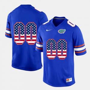Men Florida Gator #00 US Flag Fashion Customized Jerseys Royal Blue 682998-336
