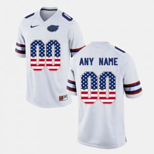Men Florida Gator #00 US Flag Fashion Customized Jerseys White 830852-998