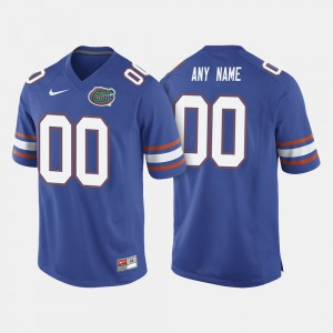 Men Florida Gator #00 College Football Customized Jersey Royal Blue 498900-807
