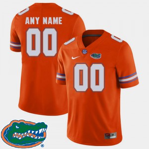 Men Florida Gators #00 College Football 2018 SEC Custom Jerseys Orange 525937-379
